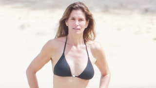 Cindy Crawford Works a Teeny Black Bikini Ahead of 50th Birthday — See Her Sexy Beach Bod
