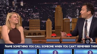 Claire Danes Drops the F-Bomb Playing Fallon's 'Fast Family Feud'