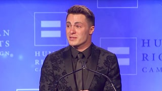 Colton Haynes Tearfully Accepts Human Rights Campaign Visibility Award With Speech About LGBT Youth