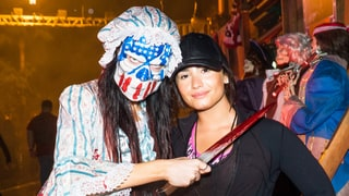 Demi Lovato Went Makeup-Free, Still Looked Flawless, at Halloween Horror Nights