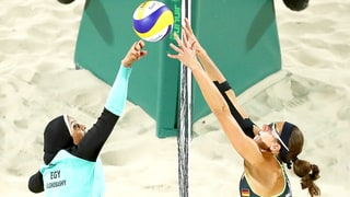 Egyptian Women's Beach Volleyball Player Wears Hijab Against Bikini-Clad Opponents at Rio Olympics
