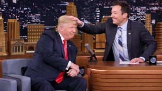 Donald Trump Lets Jimmy Fallon Mess With His Hair: Video