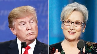 Donald Trump Slams Meryl Streep's Golden Globes Speech, Calls Her an 'Over-Rated Actress' and 'Hillary Lover'