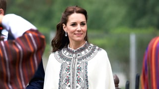 Kate Middleton Pairs an Embroidered Cape With a Locally Made Skirt at Latest Tour Stop