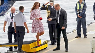 Prince William Offers Duchess Kate a Helping Hand as They Arrive by Seaplane in Vancouver