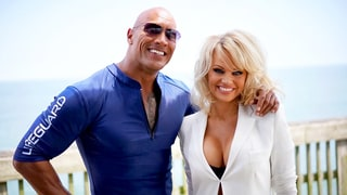 Pamela Anderson Joins 'Baywatch' the Movie! See the Rock's Welcome Photo