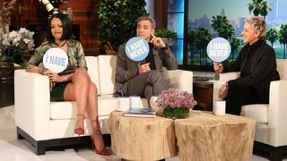 George Clooney Plays Never Have I Ever With Rihanna on Ellen!