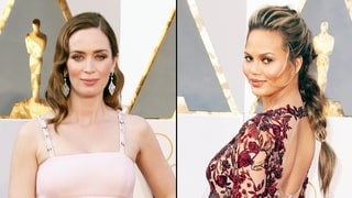 Pregnant Emily Blunt, Chrissy Teigen and Other Celebrity Bumps Take Over the Oscars 2016 Red Carpet