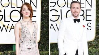 2017 Golden Globes Red Carpet: Emma Stone and Ryan Gosling Give Sly Nods to 'La La Land' Characters With Their Styles