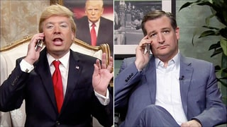 Jimmy Fallon Pretends He's Donald Trump, Calls Ted Cruz: Watch the Video