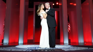 Donald Trump, Melania Trump Share First Dance at Inaugural Ball to 'My Way' — Watch