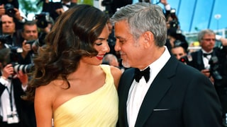 George and Amal Clooney Share Sweet Kiss on the Cannes Red Carpet