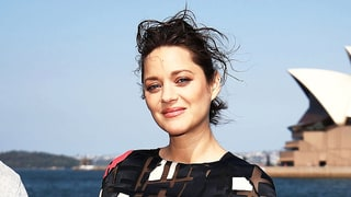 Marion Cotillard Outfits Her Baby Bump in a Bold Printed Maxi Dress