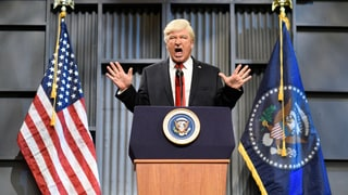 See Alec Baldwin's Donald Trump Fire Back at Bob Corker, Eminem on 'SNL'