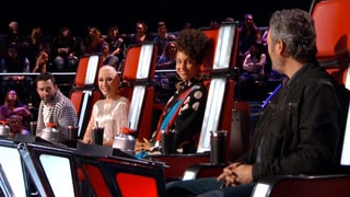 Gwen Stefani Cracks Up as Alicia Keys Grills Blake Shelton on 'The Voice' Season 12 Premiere