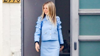 Gwyneth Paltrow Is About Her Business in a Powder Blue Skirt Suit