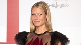 Gwyneth Paltrow Has a Rosy Outlook in This Bold Floral-Embroidered Gown