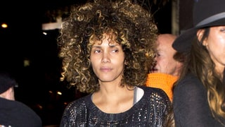 Halle Berry Wears a Headful of Corkscrew Curls and No Makeup for a Girls' Night Out