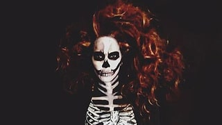 Halle Berry and Daughter Nahla's Skeleton Costumes Are to Die For