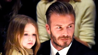 Harper Beckham Steals Victoria's Stiletto Booties for Her Toy Corner