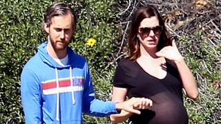 Anne Hathaway Reveals Growing Baby Bump as She Hikes With Husband Adam Shulman: Photo