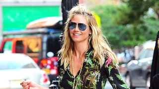 Heidi Klum Hits the Streets in Flowing, Tropical-Printed Separates: Love It or Hate It?