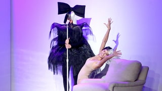 Ellen DeGeneres, Heidi Klum Perform as Sia and Maddie Ziegler for Halloween: Watch!