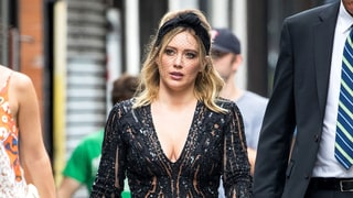 Hilary Duff Takes the Plunge in Beaded, Peekaboo Romper