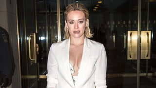 Hilary Duff Rocks a Plunging 'Pimp Suit'