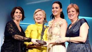 Hillary Clinton Makes Surprise Appearance to Honor Katy Perry