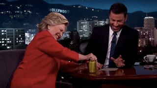 Hillary Clinton Opens a Jar of Pickles on 'Jimmy Kimmel Live' to Prove She's Strong Enough for Presidency