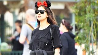 Pregnant Irina Shayk Covers Up Baby Bump During Fun Trip to Disneyland With Sister — See the Cute Pics!