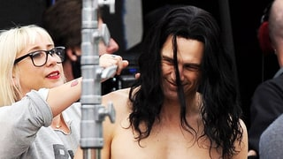 James Franco Goes Shirtless on Set, Works His Six-Pack Abs With Long, Flowing Wig