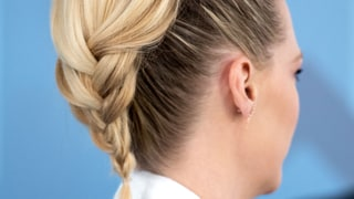 January Jones' Voluminous Pony Braid