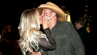 Jason Aldean Kisses Wife Brittany Kerr After Winning Entertainer of the Year at ACM Awards 2016
