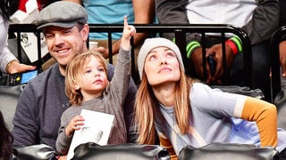 Olivia Wilde, Jason Sudeikis and Son Otis Sharing Popcorn at the Nets Game Is the Cutest Thing We've Seen All Week