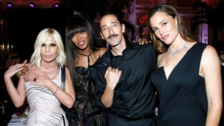 Donatella Versace, Naomi Campbell, Adrien Brody and Jennifer Garner at amfAR Paris