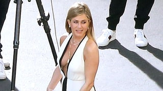 Jennifer Aniston Has a Total J.Lo Moment in This Plunging Dress