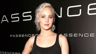 Jennifer Lawrence Goes Braless, Flashes Toned Legs in Sheer Skirt on the Red Carpet