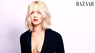 Jennifer Lawrence Goes Without Bra in Embellished Sheer Top, Wants to Become the 'New Normal-Body Type'