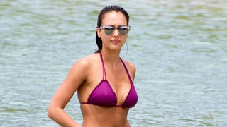 Jessica Alba Found a Flattering Swim Style That Always Works