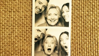 Justin Timberlake, Jessica Biel Goof Off With Hillary Clinton in Photo Booth Snaps