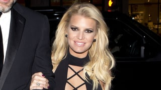 Jessica Simpson Leaves Her Bra at Home in Plunging Minidress