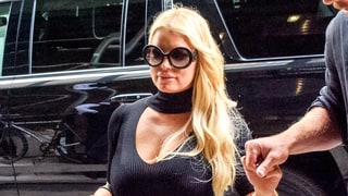Jessica Simpson Shows a Lot of Leg in a Classic LBD for Date Night