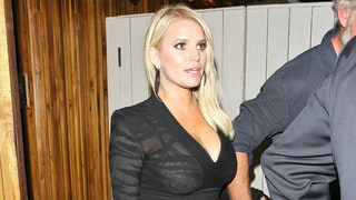 Jessica Simpson Wears Sexy, See-Through LBD on Date Night With Eric Johnson