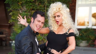 Jessica Simpson, Eric Johnson Channel 'Grease' for Halloween — Well, 'Sandra Double Dee' to Be Exact
