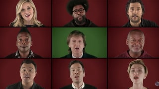 Jimmy Fallon Recruits Reese Witherspoon, Paul McCartney and the Cast of 'Sing' to Perform 'Wonderful Christmastime'