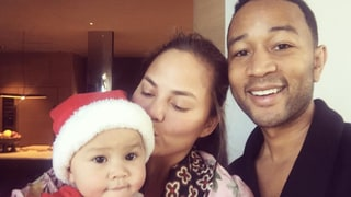 Chrissy Teigen and John Legend Celebrate First Christmas With Baby Luna (and a Sneezing Hatchimal)