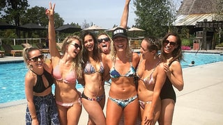 Nina Dobrev, Julianne Hough Show the Camera Their 'Full Moons' on Vacation