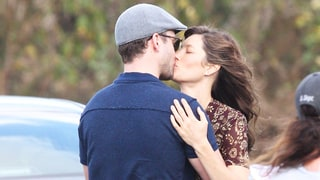 Jessica Biel Welcomes Justin Timberlake to New Orleans With a Sweet Kiss